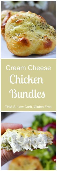 Low Carb Chicken and Cream Cheese Bundles - Pair with some veggies for a delicious keto meal.