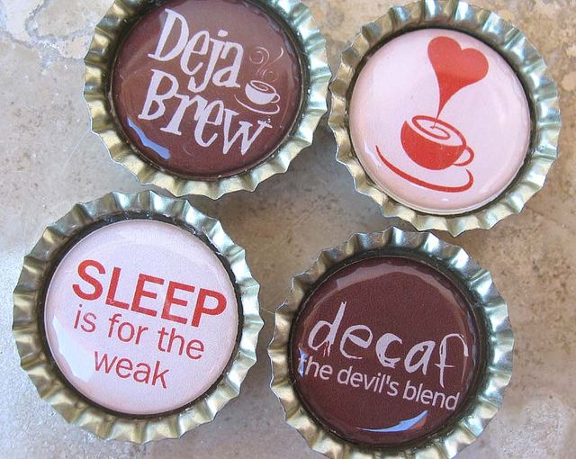 4 Funny Coffee Sayings- Bottlecap Magnets | Flickr - Photo Sharing!