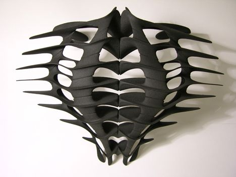 Kinesis by Daniel Widrig (wearable sculpture)