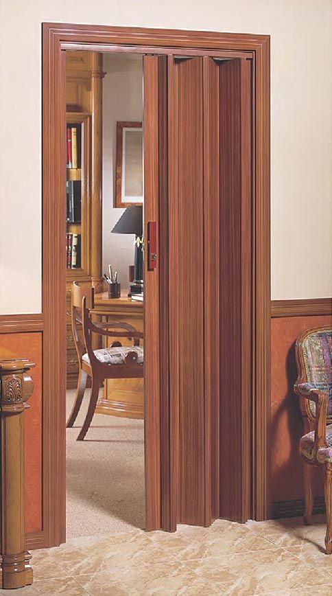 Puerta de apertura lateral con cierre de llave decorar - Puerta de acordeon ...