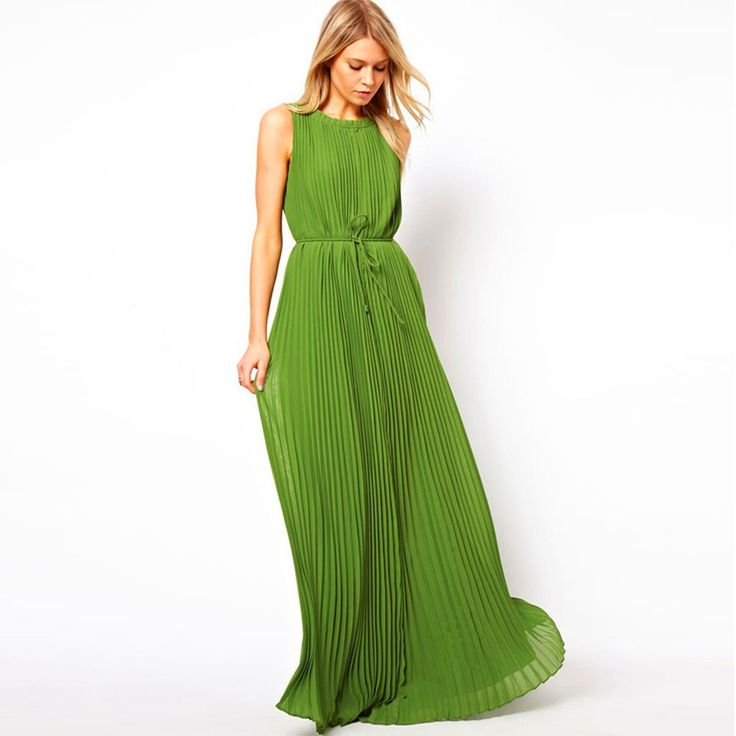 Pastel Pleated Chiffon Fabric Women Lime Green Prom Dresses For Graduation Vestiti Lunghi Eleganti Evening Party Long Prom Dress