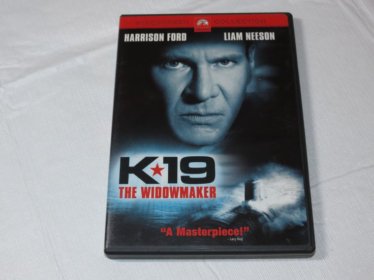 K-19: The Widowmaker DVD 2002 Widescreen Collection PG-13 Harrison Ford Liam Nee