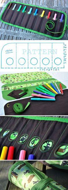DIY: Pencil Case Tutorial.   http://www.free-tutorial.net/2016/12/pencil-box-case-tutorial.html