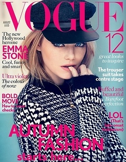 love she's: Fashion, Emma Stone, Vogue Uk, British Vogue, Uk August, Magazines Covers, August 2012, Vogue August, Emma Stones