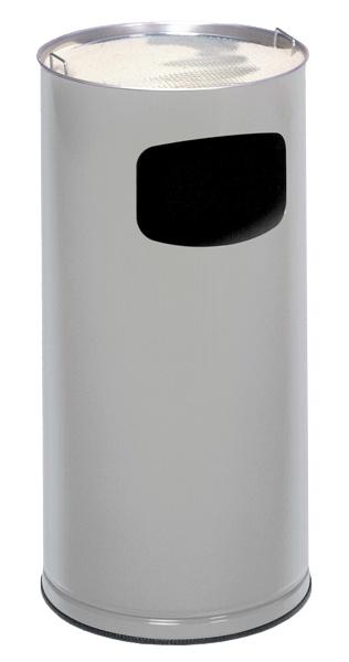 """ModèleV35541AR  Cendriers """"etouffoir"""" et """"combi"""" bac à sable/poubelle  D'une très belle finition en tôle laquée au  four et métal forte épaisseur, ces cendriers  COMIMEX existent en version """"monobloc""""  avec couvercle étouffoir et en version  """"combi"""" associant une poubelle de 20 litres  et un cendrier """"bac à sable"""".  Ils trouvent leur place dans les lieux publics  où ils vous offrent SECURITÉ, ESTHÉTIQUE  et HYGIÈNE..  * livrés sans sable"""