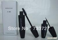 Nueva 2 en 1 rimel y delineador de ojos a prueba de agua Thich Mascara & Clear y suave makeup.1piece califican eyeliner libre del envío