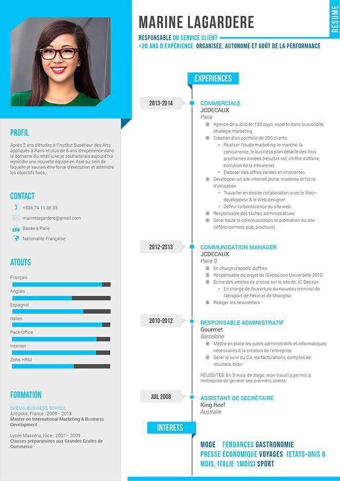 Un Cv Qui Inspire Legerete Renforcee Par Un Choix De Couleurs Tres Gaies Un Cv Agreable Qui Donne Resume Design Resume Design Inspiration Resume Design Free