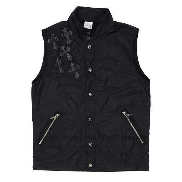 Chrome Hearts Vest Mens Black Cross Discount Store http://www.chromeheartsonlinehomes.com/