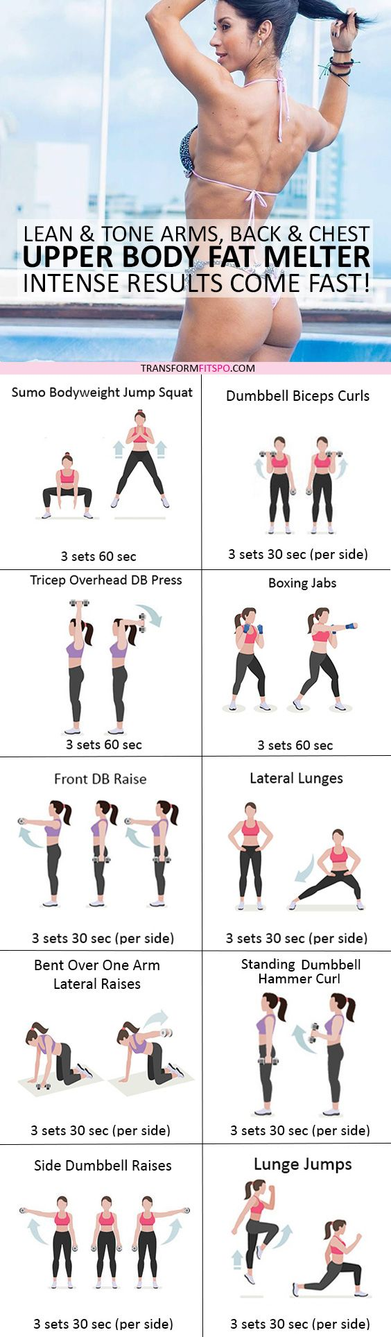 #womensworkout #workout #femalefitness Repin and share if this workout melted your back fat! Click the pin for the full workout.