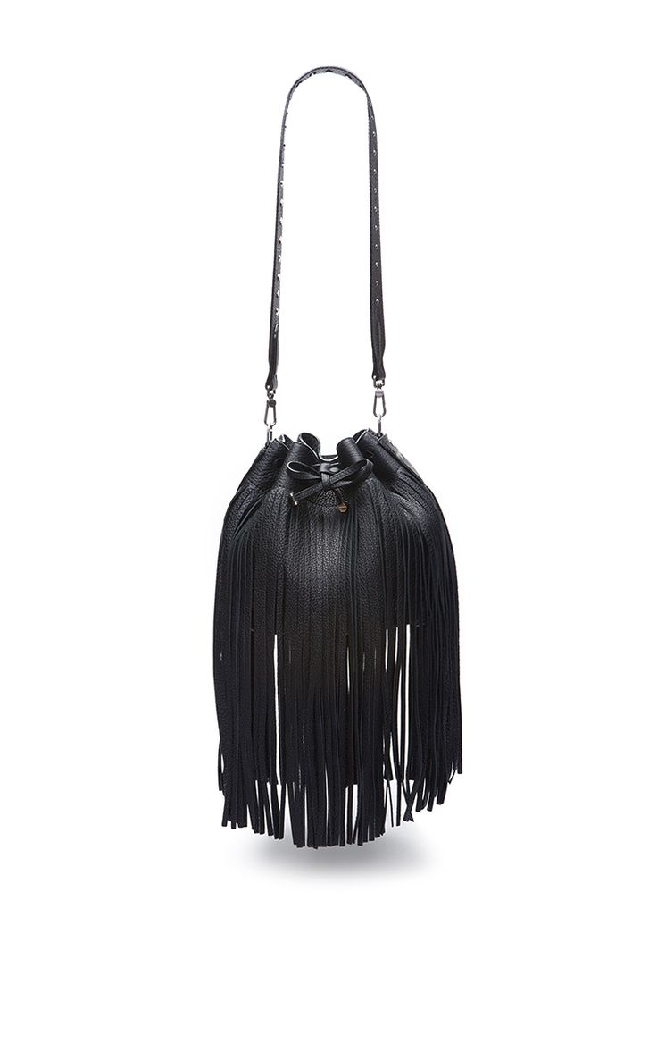 Leather Bucket Bag In Black - Bally Resort 2016 - Preorder now on Moda Operandi