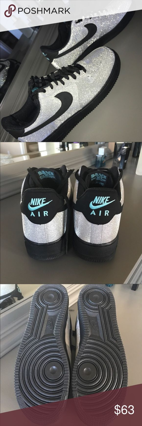 Nike Air Force One Silver glitter Nike Air Force One size 12 Brand New But no box. Nike Shoes Sneakers
