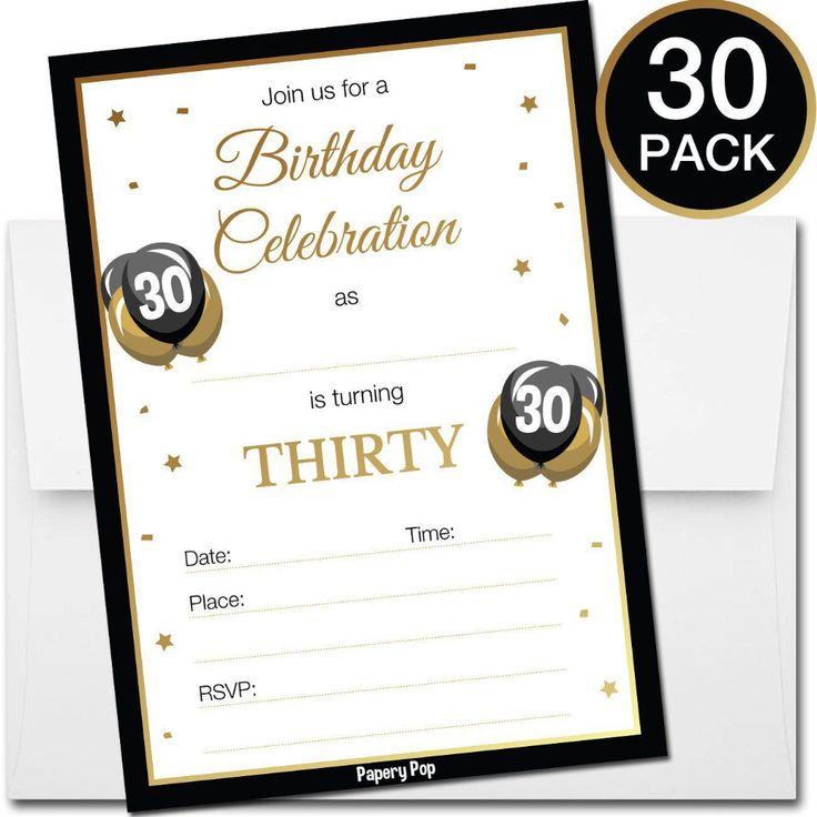 einladungskarten : 30 geburtstag einladung - einladung