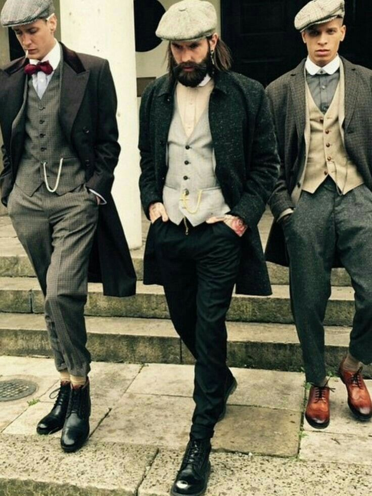 Men's fashion of the 1920s. repined