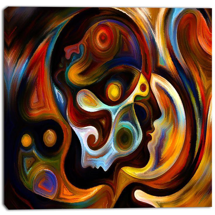 DESIGN ART Designart - Perspectives of Inner Paint - Abstract Canvas Artwork