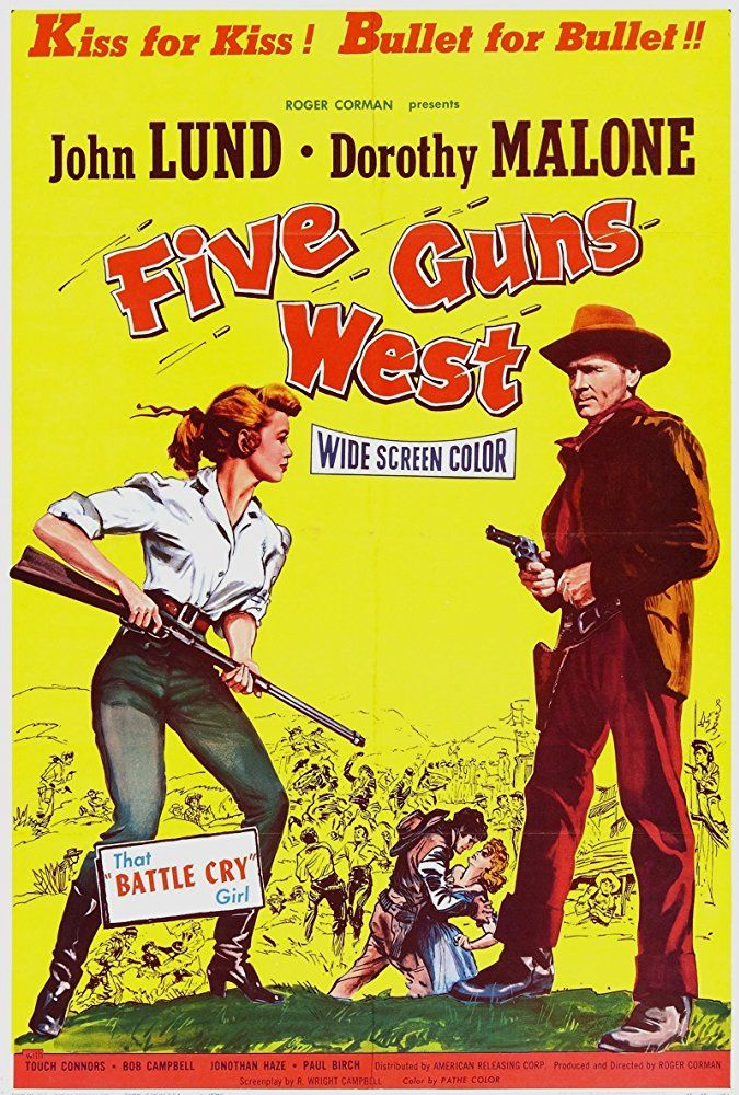 John Lund and Dorothy Malone in Five Guns West (1955)