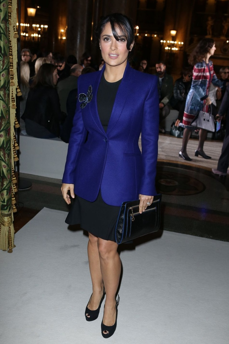 I can see myself wearing this// Salma Hayek at #PFW