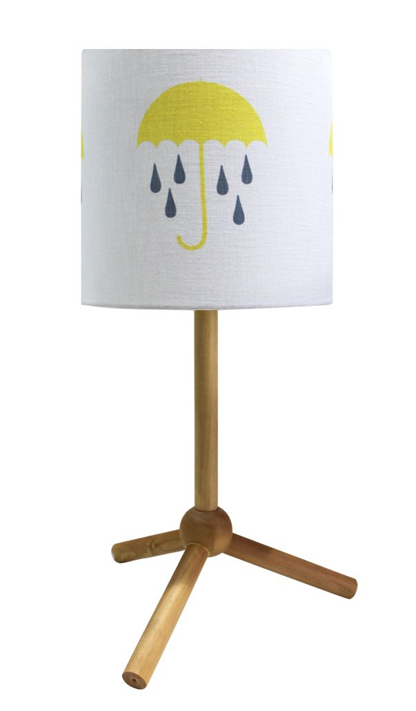 Umbrellas And Twisted Raindrops Lamp Shade Yellow http://www.ellaandsofia.com/umbrellas-and-twisted-raindrops-lamp-shade-yellow/ #KidsInteriors #KidsRooms #KidsDecor #ChuChuandMissy