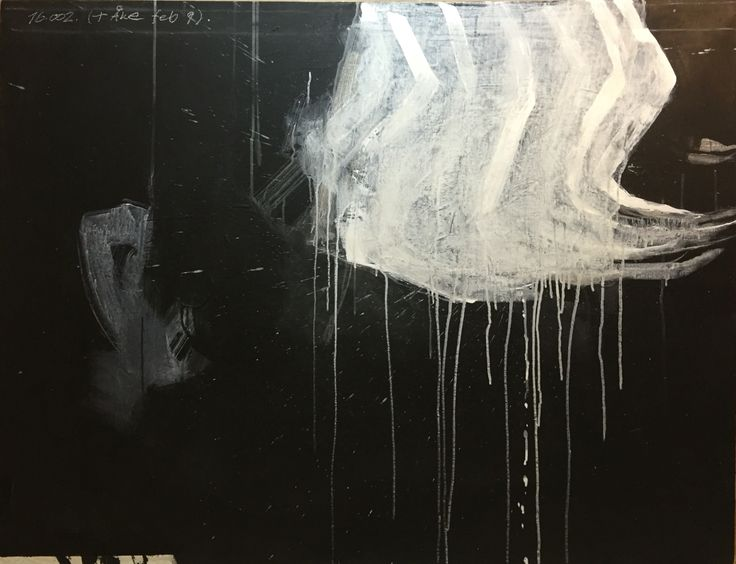 Björn Molin, 16.002. (+Åke feb. 9). 116x89 cm. mixed media on canvas.