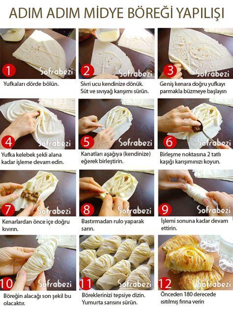 midye böreği nasıl yapılır, tarifi, adım adım yapılışı, resimli