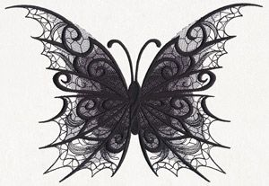 Dark Creatures - Butterfly design (UT11809) from UrbanThreads.com