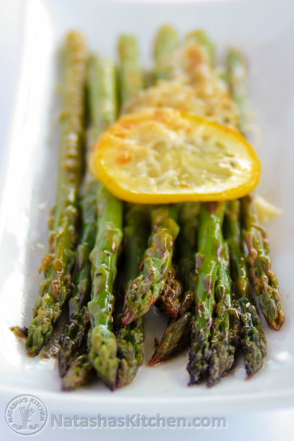 It's the perfect side dish; baked asparagus spears in a lightly seasoned lemon butter with parmesan cheese. Now that's hard to beat!Asparagus is in season and it's fairly cheap right now! I've tried several fancy asparagus recipes but I keep coming back to this one....