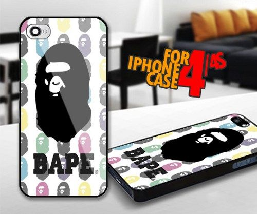 Bape for iPhone 4 / 4s Black case | iPhoneCustomCase - Accessories on ArtFire