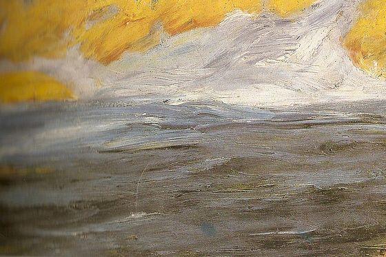 Emil Nolde Mar de Outono 1910:
