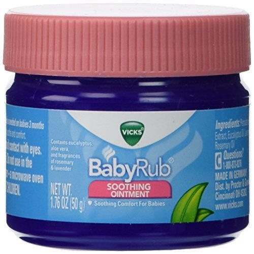 Vicks Baby Rub Soothing Ointment 1.76 oz. (Pack of 3)
