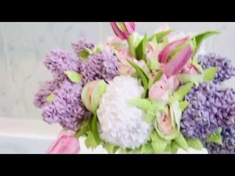 Торт букет Надежды Карманцевой - YouTube