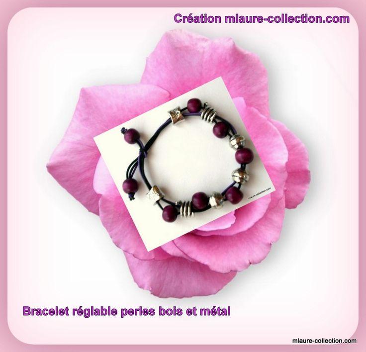 Bracelet bois et métal by mlaure-collection.com