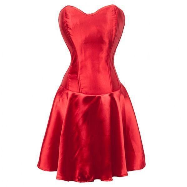 Atomic Corset Dress RED