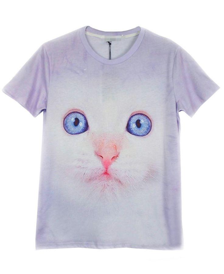 Harajuku Style 3D Animal Print T-shirt