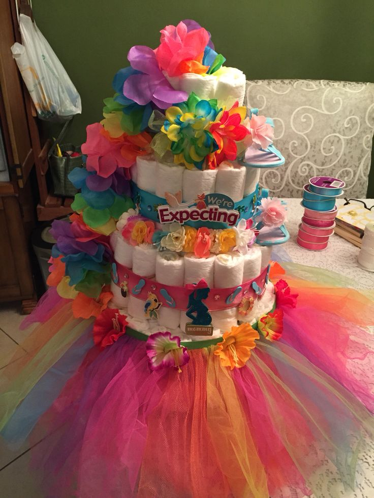 Hawaiian Themed Diaper Cake Aloha Signature Item By
