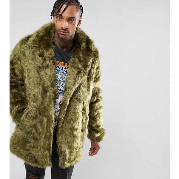 The New County Faux Fur Jacket ($190) ❤ liked on Polyvore featuring men's fashion, men's clothing, men's outerwear, men's jackets, green, mens green jacket, tall mens jackets, mens faux fur jacket, mens bomber jacket and mens green bomber jacket