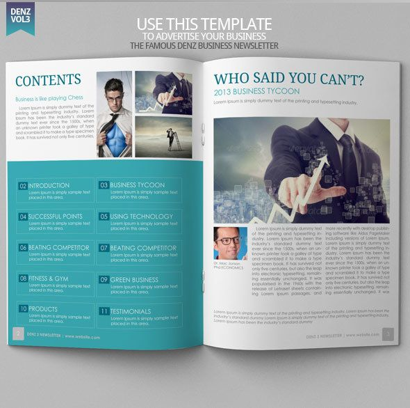 Best Newsletter Design Templates Images On