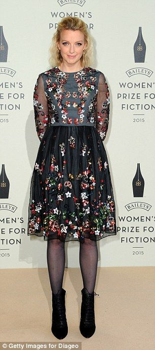 Print fans: Jameela Jamil went for a fun polka dot number while Lauren Laverne was in full bloom in her pretty floral dress