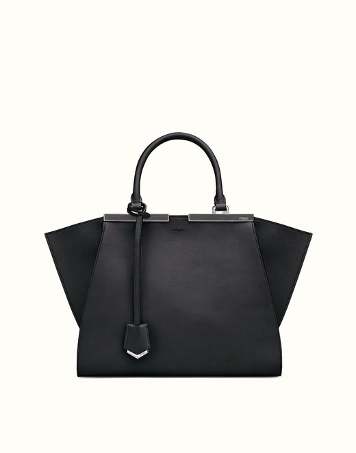 FENDI | 3JOURS sac shopping en cuir noir | Fendi Online Store | @giftryapp