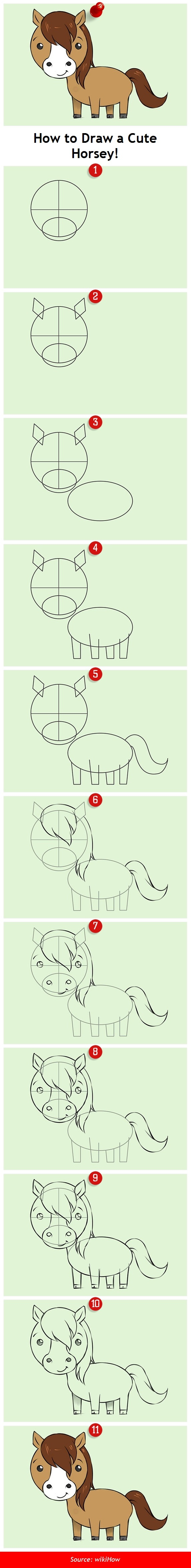 How to Draw a Cute Horsey!