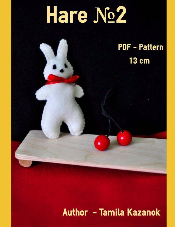 Bunny Instant Download Easy Sewing PDF Pattern/ DIY Felt Bunny/ Stuffed Toy Animal Bunny Softie by Tamilashki on Etsy