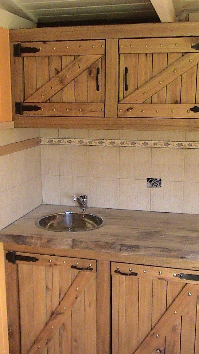 Alacena bajo mesada muebles de cocina rusticos en 2019 - Muebles cocinas rusticas ...