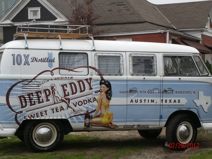 Deep Eddy's VW bus, saw this when it was at Austin veedub :)