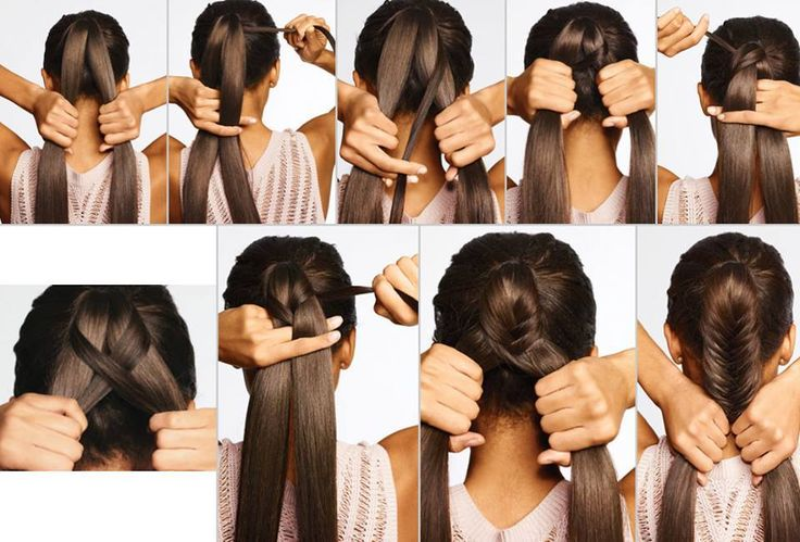 How to do a fish tail braid.