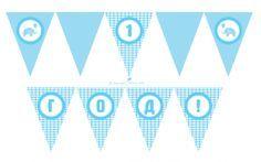 Гирлянда: флажки для первого дня рождения мальчика #masterfuns #первыйденьрождения #1годмальчику