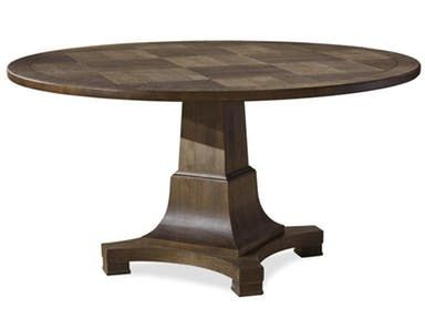 This beautiful parquet top dining table is a perfect centerpiece to dinnertime conversation. Order as separate table top and base.