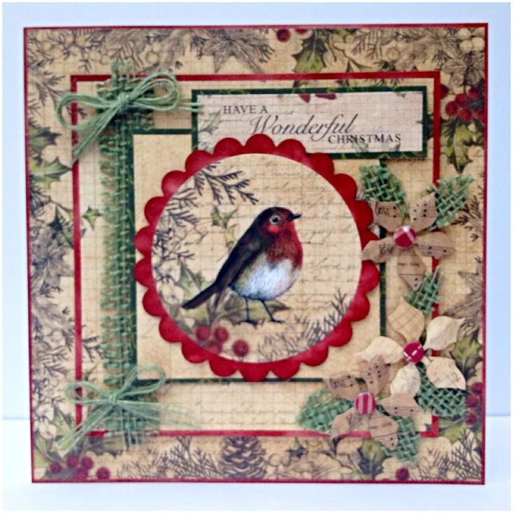 20x20cm card designed by Nicky with Christmas Cheer Collection