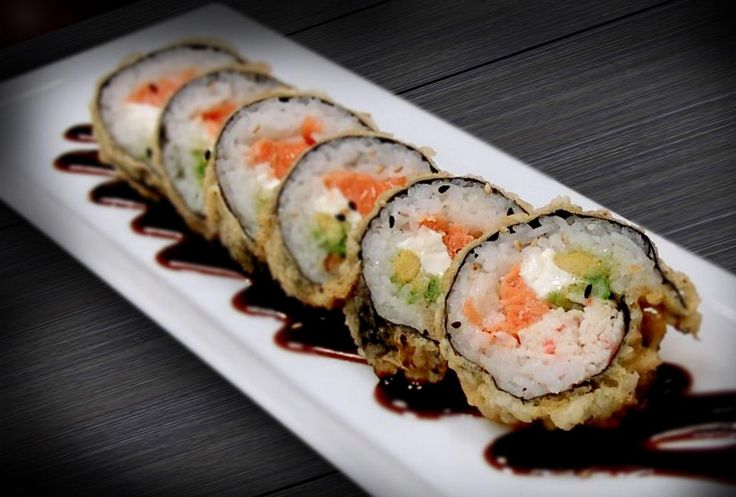 Kabuki Japanese Restaurant - Vegas Roll #Sushi... Really close to campus and great happy hour deals!!!!