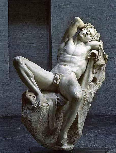 Le faune Barberini est une statue grecque antique de l'époque hellénistique…