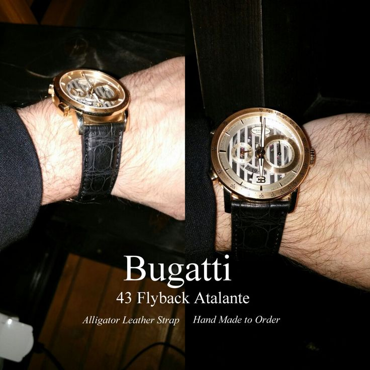 Bugatti 43 Flyback Atalante Custom Handmade Alligator Leather Strap - Build Your Own by ChristianStraps on Etsy