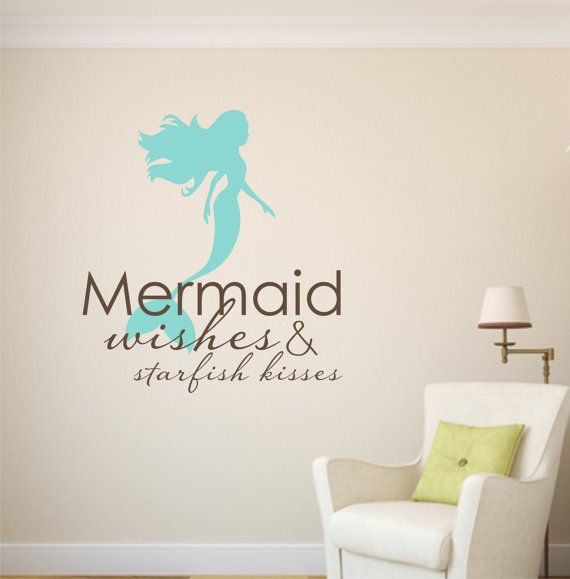Hey, I found this really awesome Etsy listing at https://www.etsy.com/listing/217164649/mermaid-wishes-and-starfish-kisses-vinyl