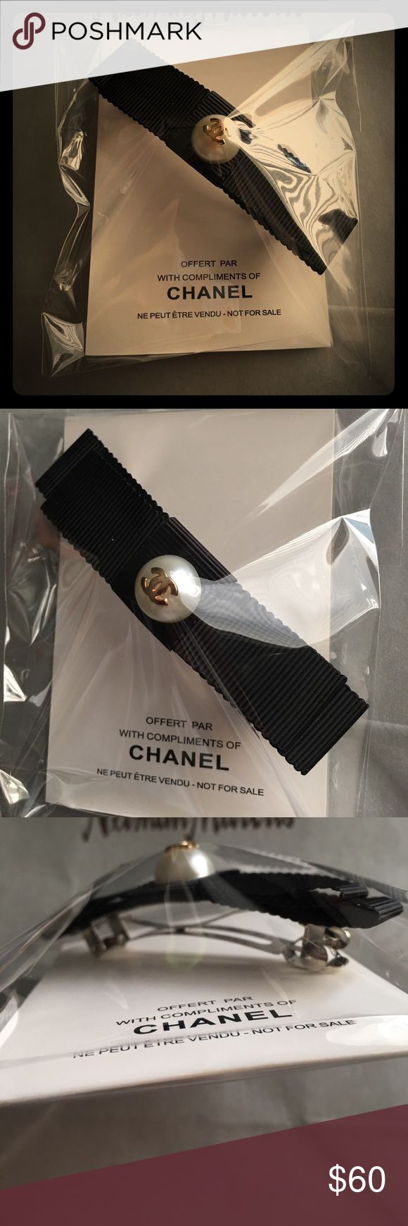 Chanel pearl bow hair barrette clip VIP gift brand new in the bag. One size CHANEL Accessories Hair Accessories